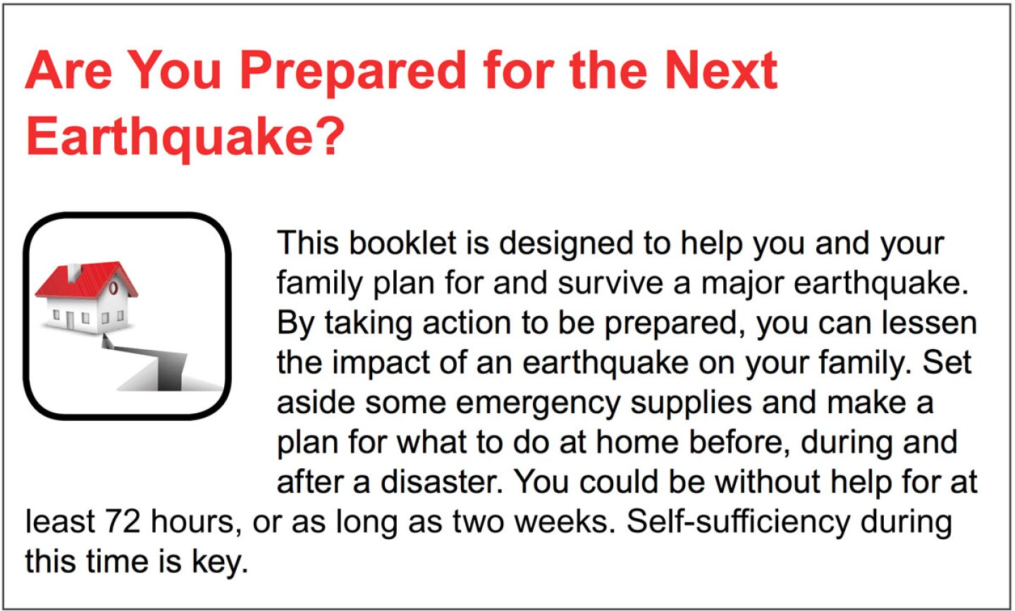 An image from the FEMA Checklist with writing on it that explains what the booklet was designed for.