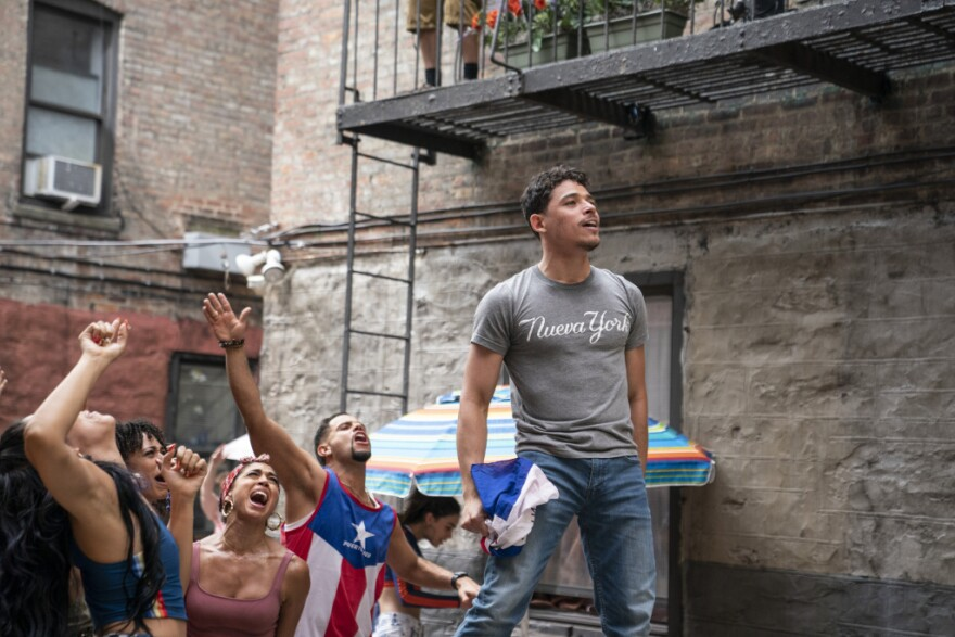 """ANTHONY RAMOS as Usnavi in Warner Bros. Pictures' """"IN THE HEIGHTS."""" MACALL POLAY/WARNER BROS. PICTURES"""