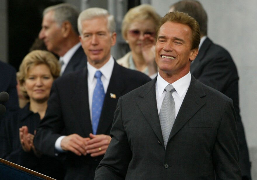 Arnold Schwarzenegger Is Sworn In As The 38th Governor Of California
