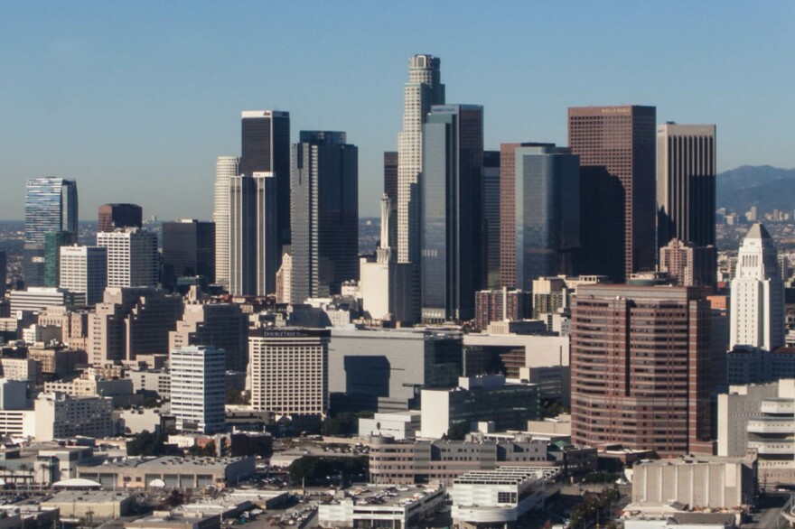 File photo: The downtown Los Angeles skyline. GRANT SLATER/KPCC